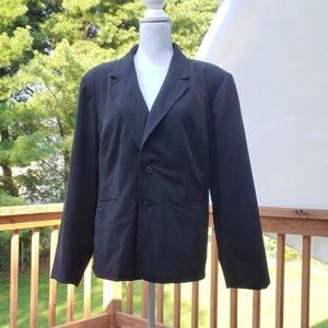 Black shoulder pad suit jacket coat blazer